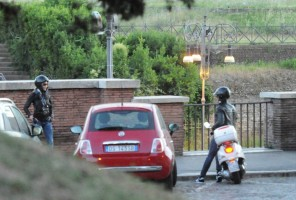 Madonna riding a Vespa in Rome - 13 June 2012 (46)