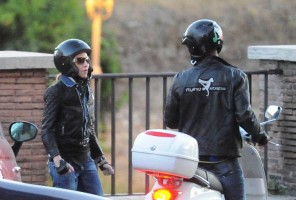 Madonna riding a Vespa in Rome - 13 June 2012 (47)
