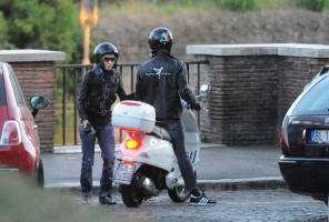 Madonna riding a Vespa in Rome - 13 June 2012 (48)