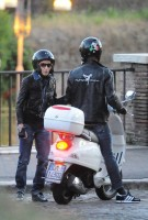 Madonna riding a Vespa in Rome - 13 June 2012 (49)