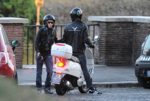Madonna riding a Vespa in Rome - 13 June 2012 (50)