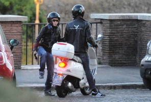 Madonna riding a Vespa in Rome - 13 June 2012 (51)
