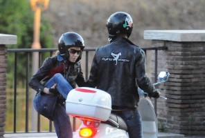 Madonna riding a Vespa in Rome - 13 June 2012 (52)