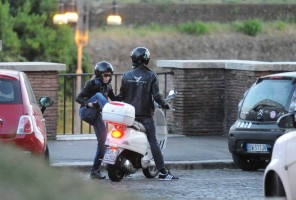 Madonna riding a Vespa in Rome - 13 June 2012 (53)