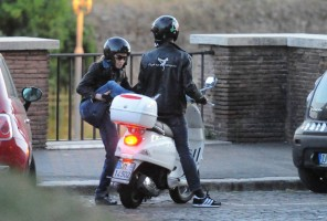 Madonna riding a Vespa in Rome - 13 June 2012 (54)