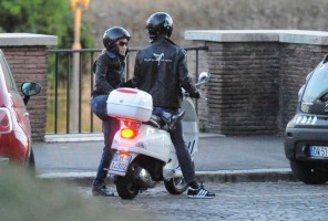 Madonna riding a Vespa in Rome - 13 June 2012 (55)