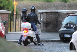 Madonna riding a Vespa in Rome - 13 June 2012 (56)