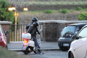Madonna riding a Vespa in Rome - 13 June 2012 (57)