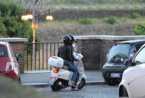 Madonna riding a Vespa in Rome - 13 June 2012 (58)
