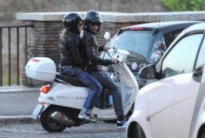 Madonna riding a Vespa in Rome - 13 June 2012 (60)