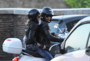 Madonna riding a Vespa in Rome - 13 June 2012 (61)