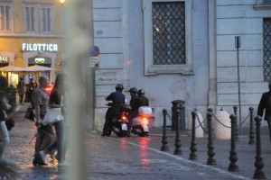 Madonna riding a Vespa in Rome - 13 June 2012 (64)
