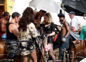 On the set of Turn up the Radio - Florence - Madonna (4)