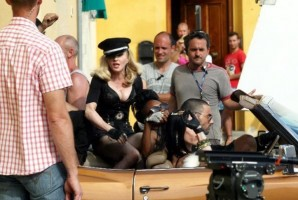 On the set of Turn up the Radio - Florence - Madonna (11)