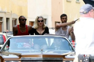 On the set of Turn up the Radio - Florence - Madonna (14)