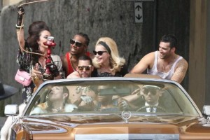 On the set of Turn up the Radio - Florence - Madonna (17)
