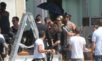 On the set of Turn up the Radio - Florence - Madonna (20)