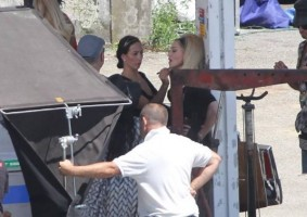 On the set of Turn up the Radio - Florence - Madonna (28)