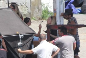 On the set of Turn up the Radio - Florence - Madonna (29)