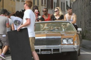 On the set of Turn up the Radio - Florence - Madonna (40)