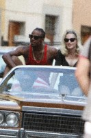 On the set of Turn up the Radio - Florence - Madonna (45)