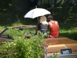 On the set of Turn up the Radio - Madonna - Florence - Part 2 (8)