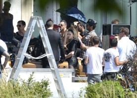 On the set of Turn up the Radio - Madonna - Florence - Part 2 (10)