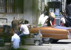 On the set of Turn up the Radio - Madonna - Florence - Part 2 (12)