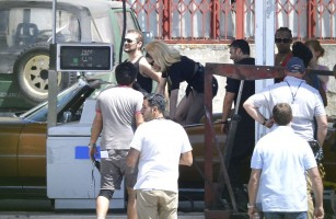 On the set of Turn up the Radio - Madonna - Florence - Part 2 (19)