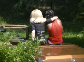 On the set of Turn up the Radio - Madonna - Florence - Part 2 (20)