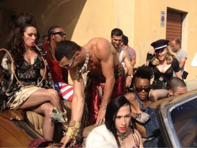 On the set of Turn up the Radio - Madonna MDNA