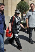 Madonna leaving the Crillon Hotel on her way to the Olympia, Paris (1)
