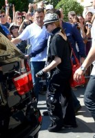 Madonna leaving the Crillon Hotel on her way to the Olympia, Paris (3)