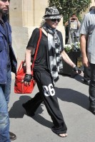 Madonna leaving the Crillon Hotel on her way to the Olympia, Paris (4)