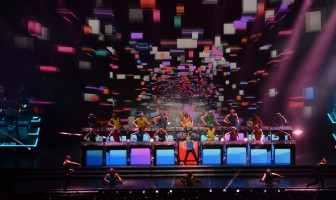 Unique look at the MDNA Tour stage by Moment Factory (5)