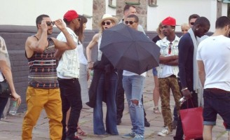 Madonna out and about in Kiev - 3 August 2012 (12)