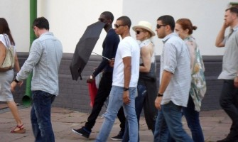 Madonna out and about in Kiev - 3 August 2012 (13)