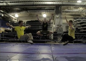 MDNA Tour Behind the Scenes - Slackline with Hayden Nickell, Jaan Roose, Carlos Neto (3)