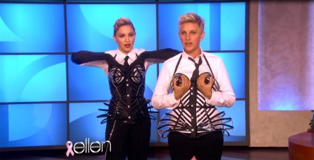 Madonna and Ellen DeGeneres - Breast awareness month HQ (1)