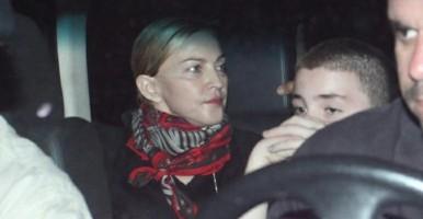 1 December 2012 - Madonna Having dinner with Luciano Huck, Rio de Janeiro (1)