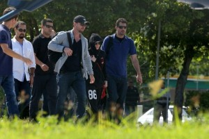 2 December 2012 - Madonna Leaving for the Parque Olimpico Cidade do Rock by Helicopter, Lagao (4)