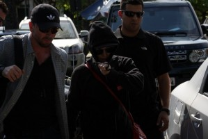 2 December 2012 - Madonna Leaving for the Parque Olimpico Cidade do Rock by Helicopter, Lagao (9)