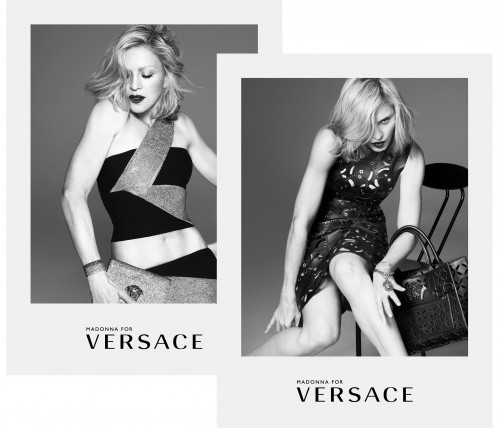 Madonna by Mert Alas and Marcus Piggott for Versace Spring Summer 2015