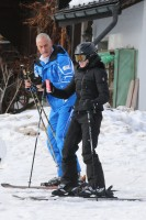 Madonna skiing in Gstaad, Switzerland (1)
