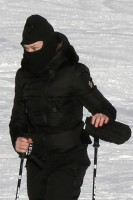 Madonna skiing in Gstaad, Switzerland (3)