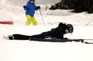 Madonna skiing in Gstaad, Switzerland (4)