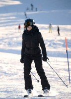 Madonna skiing in Gstaad, Switzerland (5)