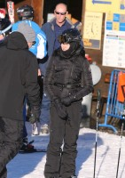 Madonna skiing in Gstaad, Switzerland (8)