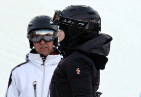 Madonna skiing in Gstaad, Switzerland - Part 2 (2)