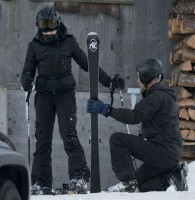 Madonna skiing in Gstaad, Switzerland - Part 2 (42)